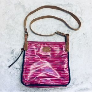 Fossil crossbody nylon bag in pink